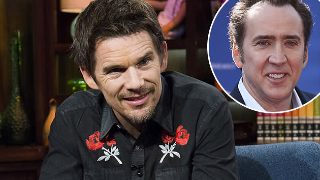 Ethan Hawke is all about Nicolas Cage