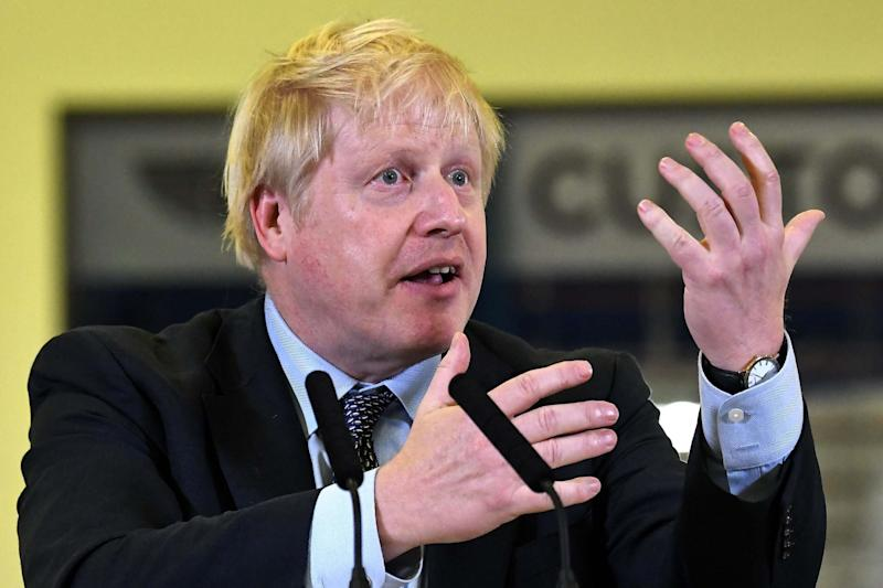 Boris Johnson speaking at a rally in Coventry on Wednesday night (Ben Stansall/AFP via Getty Images)