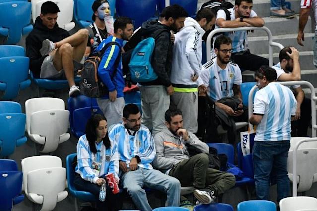 It was a bad night for Argentina and their fans as they slipped to the brink of an embarrassing group-stage exit