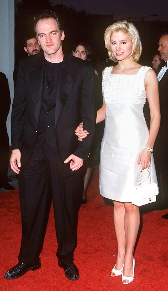 The director was Sorvino's date the year she won a trophy for her role in <em>Mighty Aphrodite </em>(and again, when she won an Oscar for the same later that year), but the low-key couple called it quits two years later.