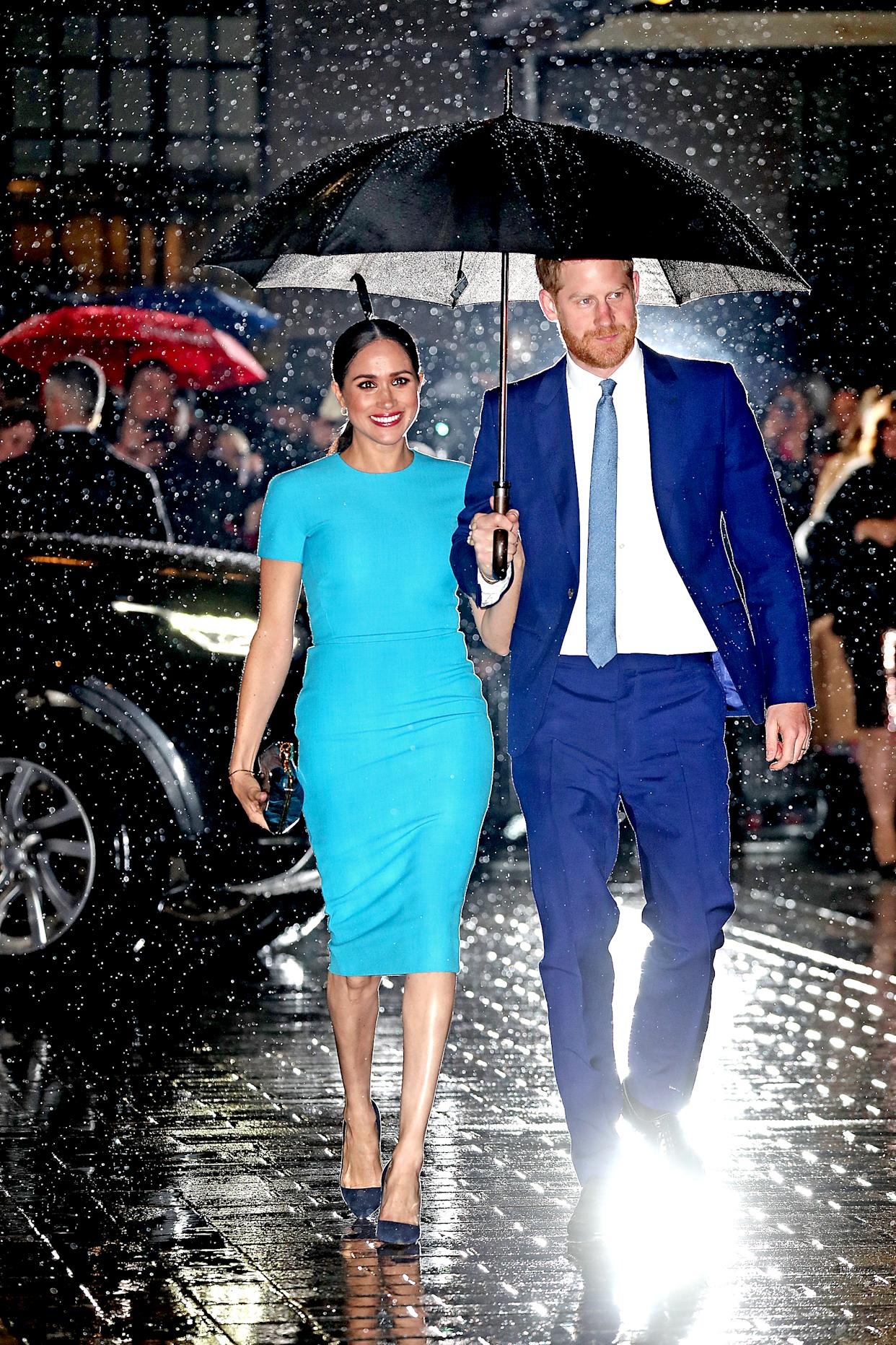 Meghan Markle and Prince Harry made a splash at The Endeavour Fund Awards on March 05, 2020 in London, England. (Photo: Chris Jackson/Getty Images)