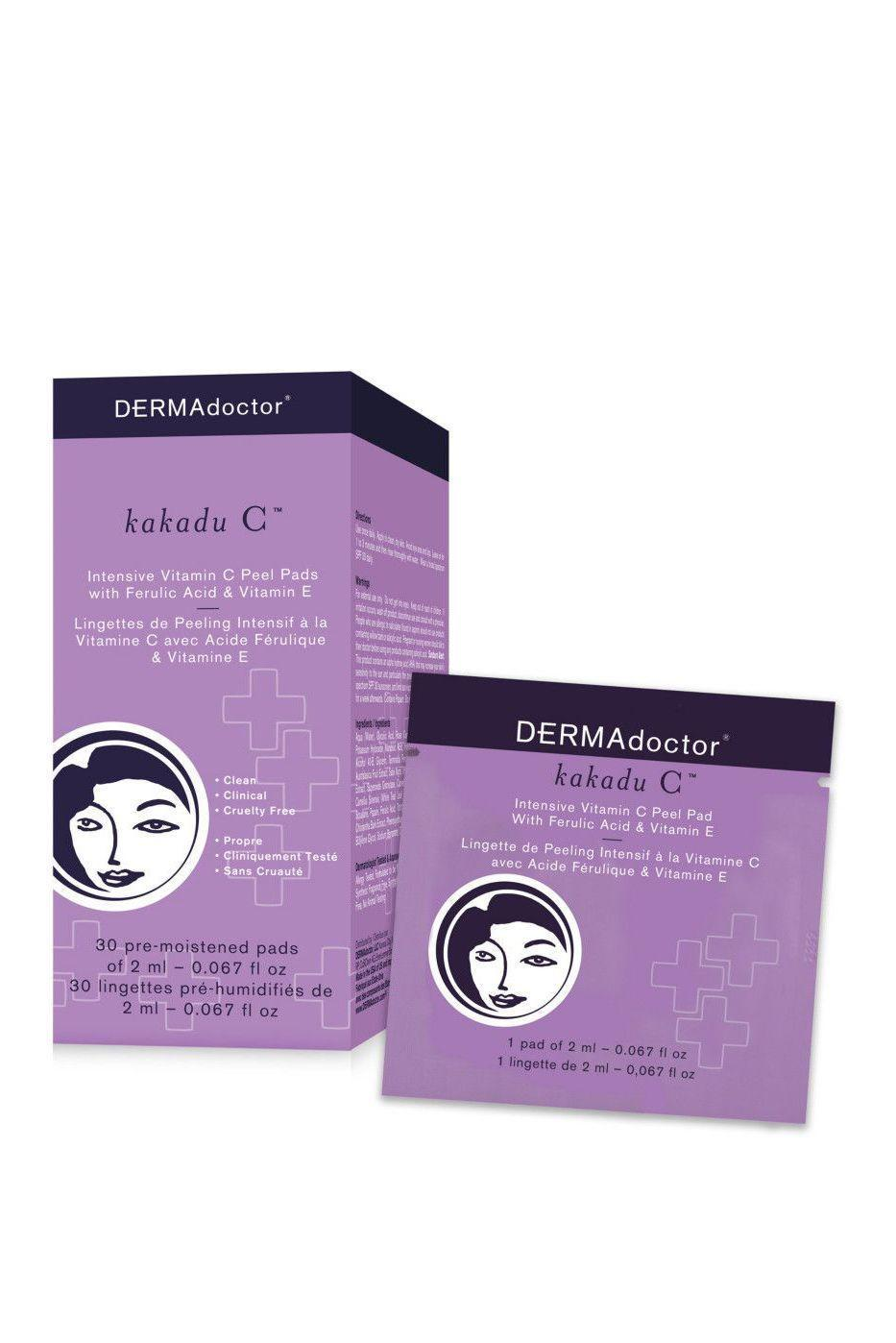 """<p><strong>Dermadoctor</strong></p><p>ulta.com</p><p><strong>$39.00</strong></p><p><a href=""""https://go.redirectingat.com?id=74968X1596630&url=https%3A%2F%2Fwww.ulta.com%2Fkakadu-c-intensive-vitamin-c-peel-pad-with-ferulic-acid-vitamin-e%3FproductId%3DxlsImpprod14181007&sref=https%3A%2F%2Fwww.marieclaire.com%2Fbeauty%2Fg35067108%2Fferulic-adic-guide%2F"""" rel=""""nofollow noopener"""" target=""""_blank"""" data-ylk=""""slk:SHOP IT"""" class=""""link rapid-noclick-resp"""">SHOP IT </a></p><p>The key to a clear complexion is exfoliation. Turn to Kakadu C for a gentle daily peel that promotes rapid cell turnover to reveal a radiant glow. </p>"""