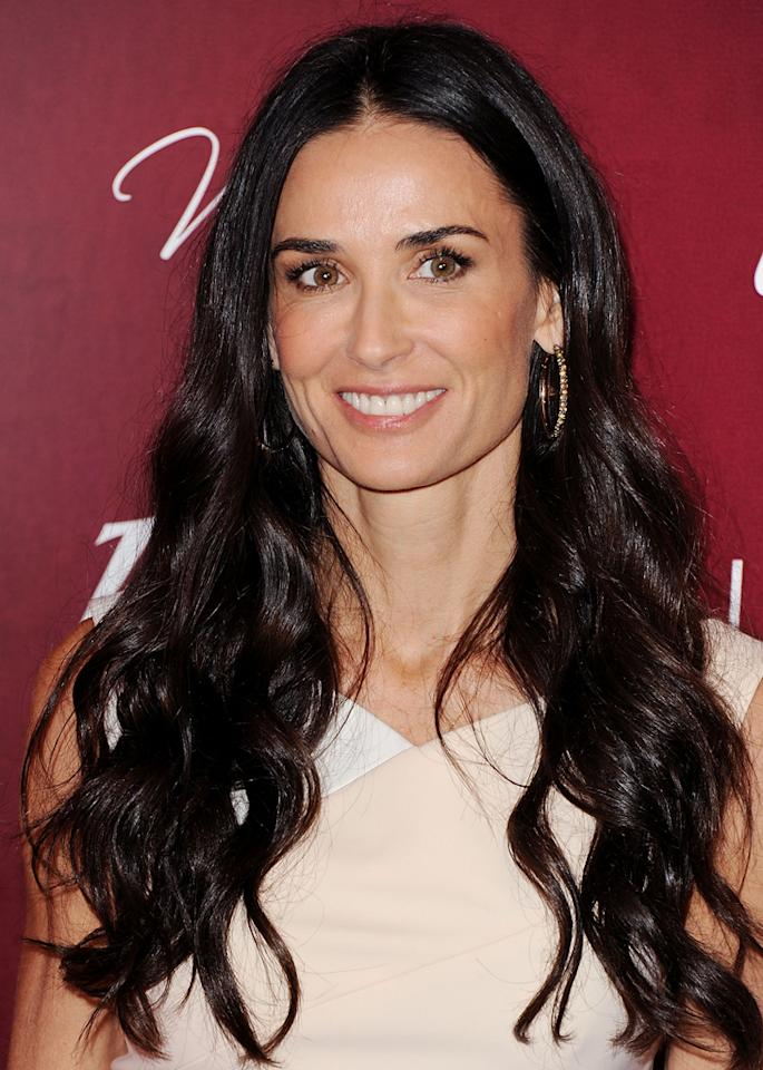 Celebrity name: Demi Moore Birth name: Demi Gene Guynes Demi's last name was that of her stepfather, Danny Guynes, but she eventually took the last name of her first husband, Freddy Moore, to whom she was married from 1980 to 1985.