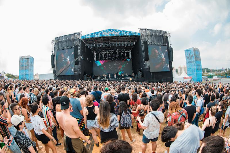 SAO PAULO, BRAZIL - APRIL 06: A general view of atmosphere during the second day of Lollapalooza Brazil Music Festival at Interlagos Racetrack on April 06, 2019 in Sao Paulo, Brazil. (Photo by Mauricio Santana/Getty Images)