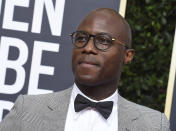 """FILE - Barry Jenkins arrives at the 77th annual Golden Globe Awards in Beverly Hills, Calif., on Jan. 5, 2020. Jenkins' latest project, the 10-hour limited series """"The Underground Railroad,"""" premieres Thursday on Amazon. (Photo by Jordan Strauss/Invision/AP, File)"""