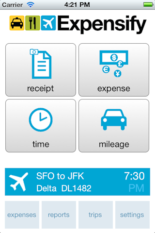 Expensify mobile app