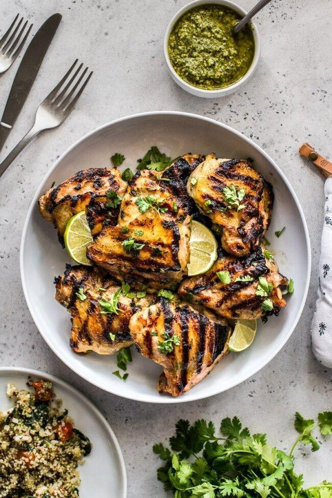 """<p>This bright, refreshing marinade calls for ingredients you may already have on hand, like cilantro, chicken broth, lime juice, and honey. Let chicken marinate in it overnight for maximum flavor.</p><p><strong>Get the recipe at <a href=""""https://www.isabeleats.com/easy-cilantro-lime-chicken/"""" rel=""""nofollow noopener"""" target=""""_blank"""" data-ylk=""""slk:Isabel Eats"""" class=""""link rapid-noclick-resp"""">Isabel Eats</a>.</strong></p><p><a class=""""link rapid-noclick-resp"""" href=""""https://www.amazon.com/Ziploc-Freezer-Bags-Gallon-Count/dp/B00CQAHOCO?tag=syn-yahoo-20&ascsubtag=%5Bartid%7C2164.g.36491151%5Bsrc%7Cyahoo-us"""" rel=""""nofollow noopener"""" target=""""_blank"""" data-ylk=""""slk:SHOP ZIP-TOP BAGS"""">SHOP ZIP-TOP BAGS</a></p>"""