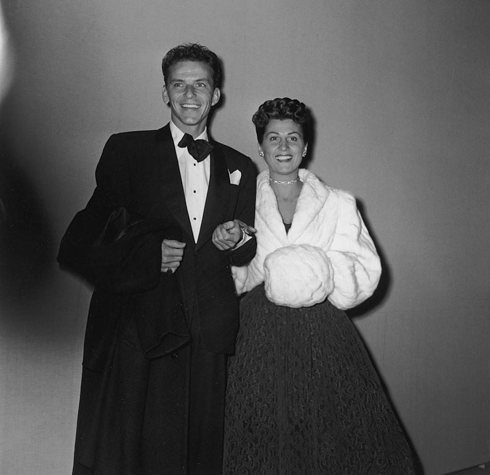 Frank Sinatra and his wife, Nancy at the 1946 Academy Awards. Sinatra had starred in Oscar-nominated film 'Anchors Aweigh'. <em>[Photo: Getty]</em>