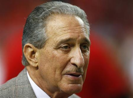 Atlanta Falcons owner Arthur Blank in the NFL NFC Championship football game in Atlanta