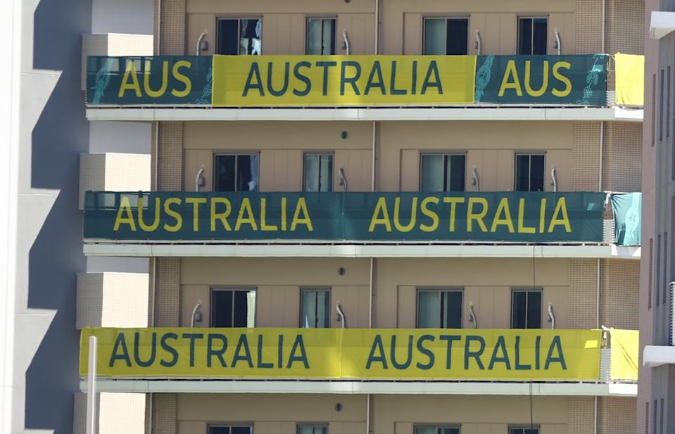 Australia's floors at the Olympic village in Tokyo. (Kim Kyung-Hoon/Reuters)