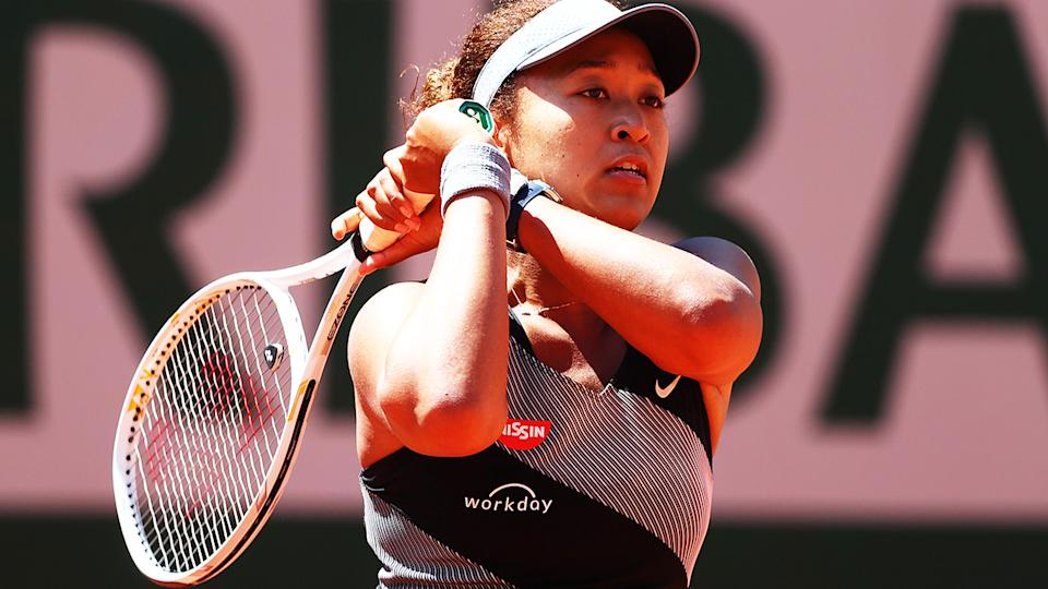 Naomi Osaka, pictured here in action at the French Open.