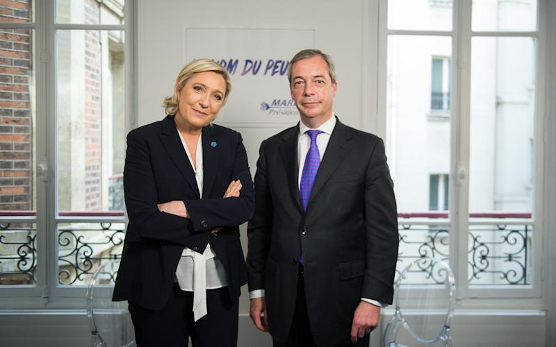 Marine Le Pen with Nigel Farage in the LBC interview - Credit: Eliot Blondet/Abaca Press/Eliot Blondet/Abaca Press