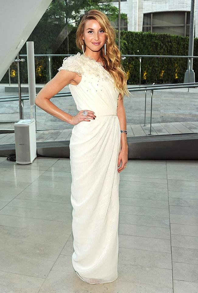 """""""Hills"""" alum Whitney Port popped a pose in a breathtaking, pleated Pamella Roland gown upon arriving at this year's CFDA Fashion Awards. Larry Busacca/<a href=""""http://www.gettyimages.com/"""" target=""""new"""">GettyImages.com</a> - June 6, 2011"""