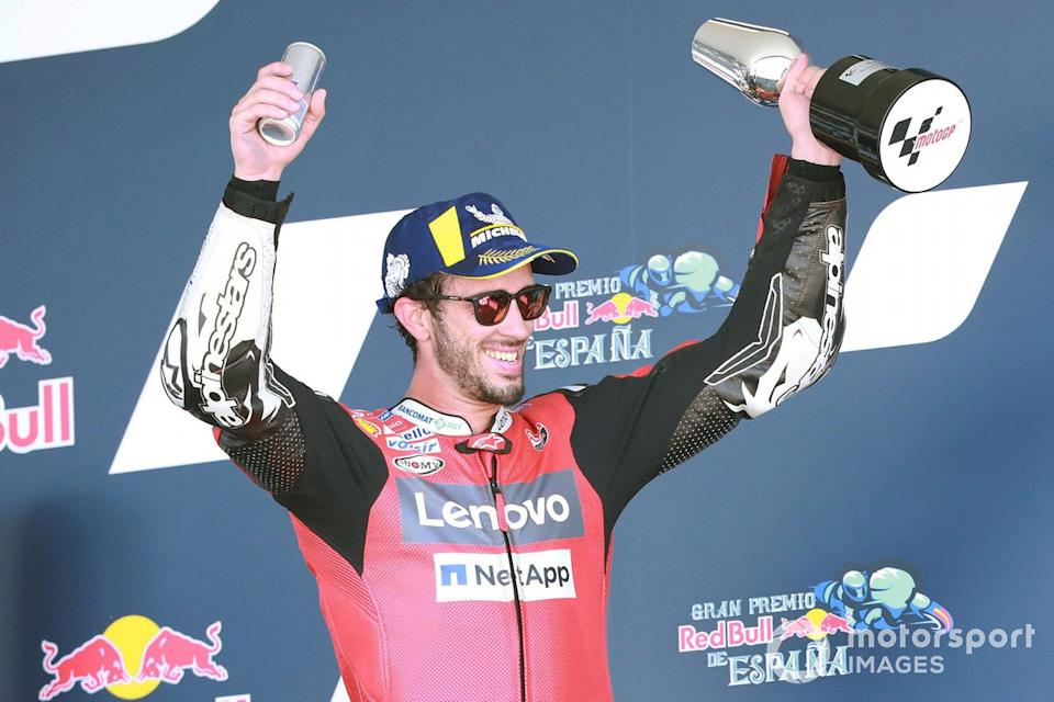"""Tercer lugar Andrea Dovizioso, Ducati Team<span class=""""copyright"""">Gold and Goose / Motorsport Images</span>"""