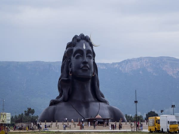 'Adiyogi' Lord Shiva steel statue situated in Coimbatore