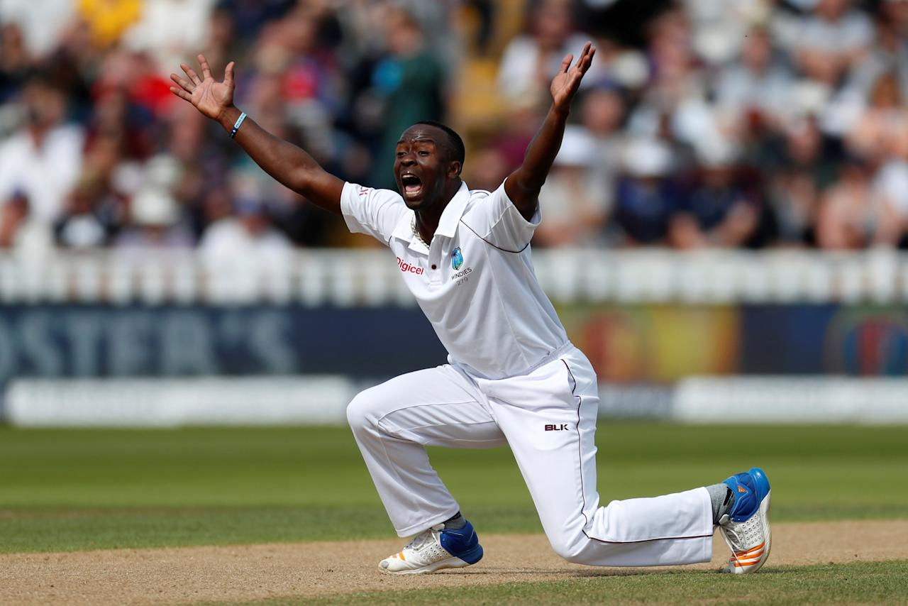 Cricket - England vs West Indies - First Test - Birmingham, Britain - August 18, 2017   West Indies' Kemar Roach appeals for a wicket   Action Images via Reuters/Paul Childs     TPX IMAGES OF THE DAY