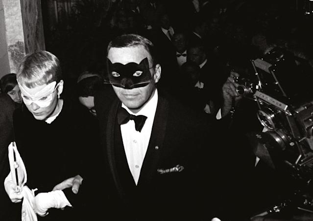 "<p>Mia Farrow and Frank Sinatr, Truman Capote's Black and White Ball, the Plaza Hotel, New York City, 1966. (Photograph from ""Harry Benson: Persons of Interest"" by Harry Benson, published by powerHouse Books) </p>"