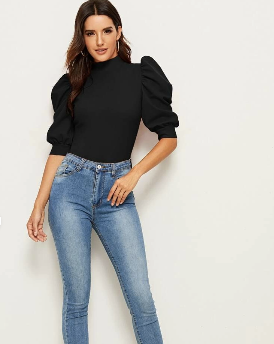 Exaggerate Puff Sleeve Blouse, $10.95