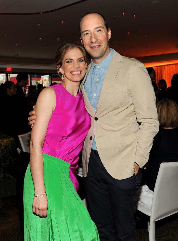 Nominees Anna Chlumsky, left, and Tony Hale attend the Television Academy's 66th Emmy Awards Performance Nominee Reception at the Pacific Design Center on Saturday, Aug. 23, 2014, in West Hollywood, Calif. (Photo by Frank Micelotta/Invision for the Television Academy/AP Images)