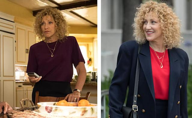Edie Falco's perm is definitely its own character. (Photo: Justin Lubin/NBC)
