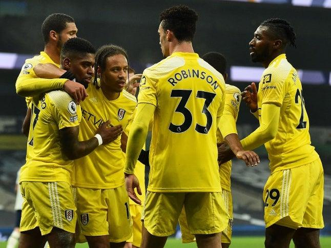 Fulham celebrate scoring a goal (POOL/AFP via Getty Images)