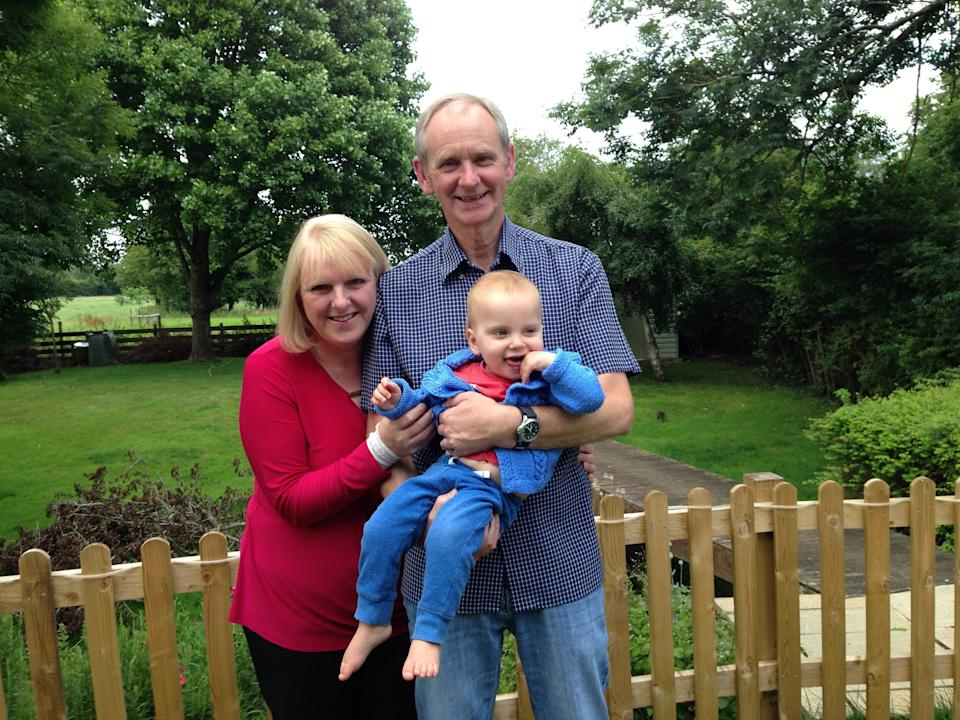 Louise and Mark Warneford with their son William.