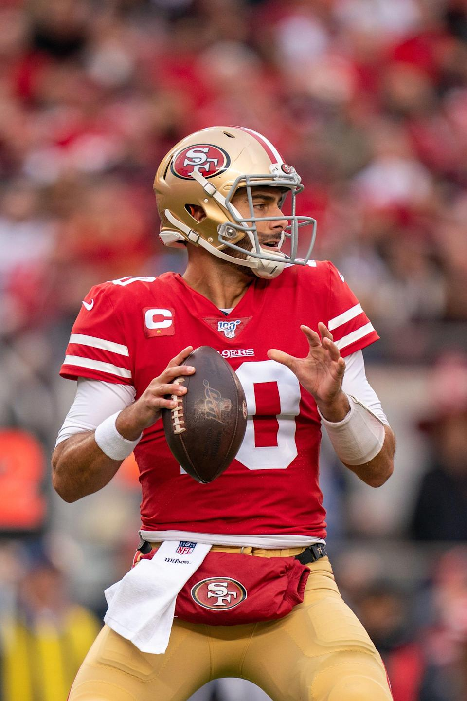 San Francisco 49ers quarterback Jimmy Garoppolo's stock has dropped precipitously since starting NFC title game in January 2020. The 49ers used the No. 3 overall pick on his eventual replacement, Trey Lance of North Dakota State.