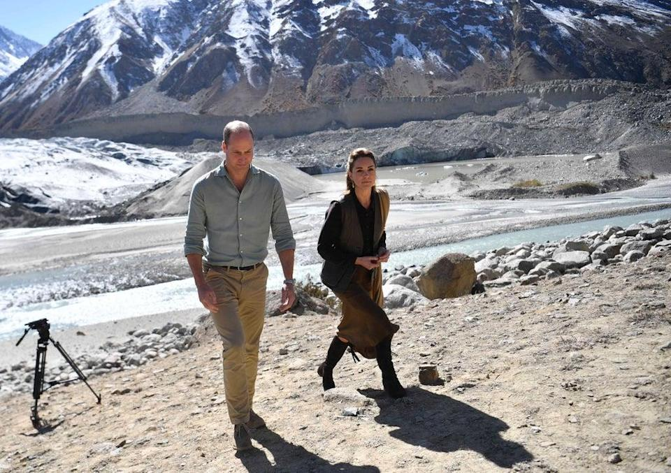 The Duke and Duchess of Cambridge visit the Chiatibo glacier in Pakistan in 2019 to learn about the effects of climate change (Neil Hall/PA) (PA Archive)