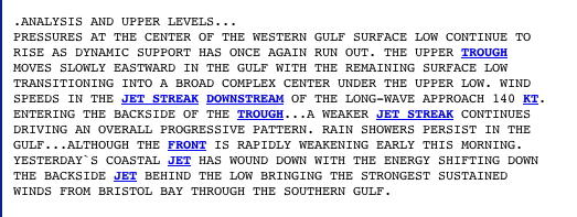 nws no message