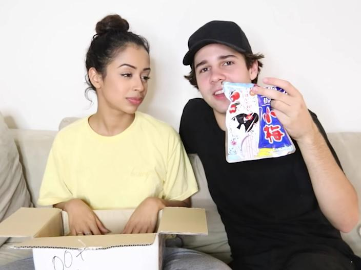Liza Koshy and David Dobrik, then a couple, are under fire for a pair of 2016 videos.
