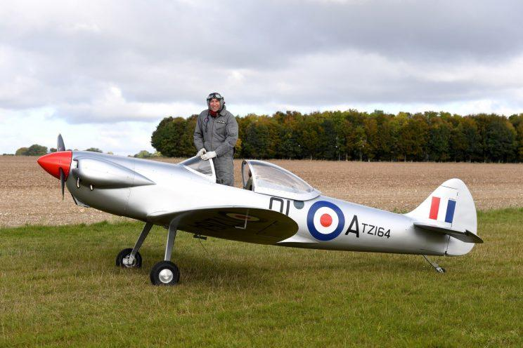 The Spitfire took three years to build (Picture: SWNS)