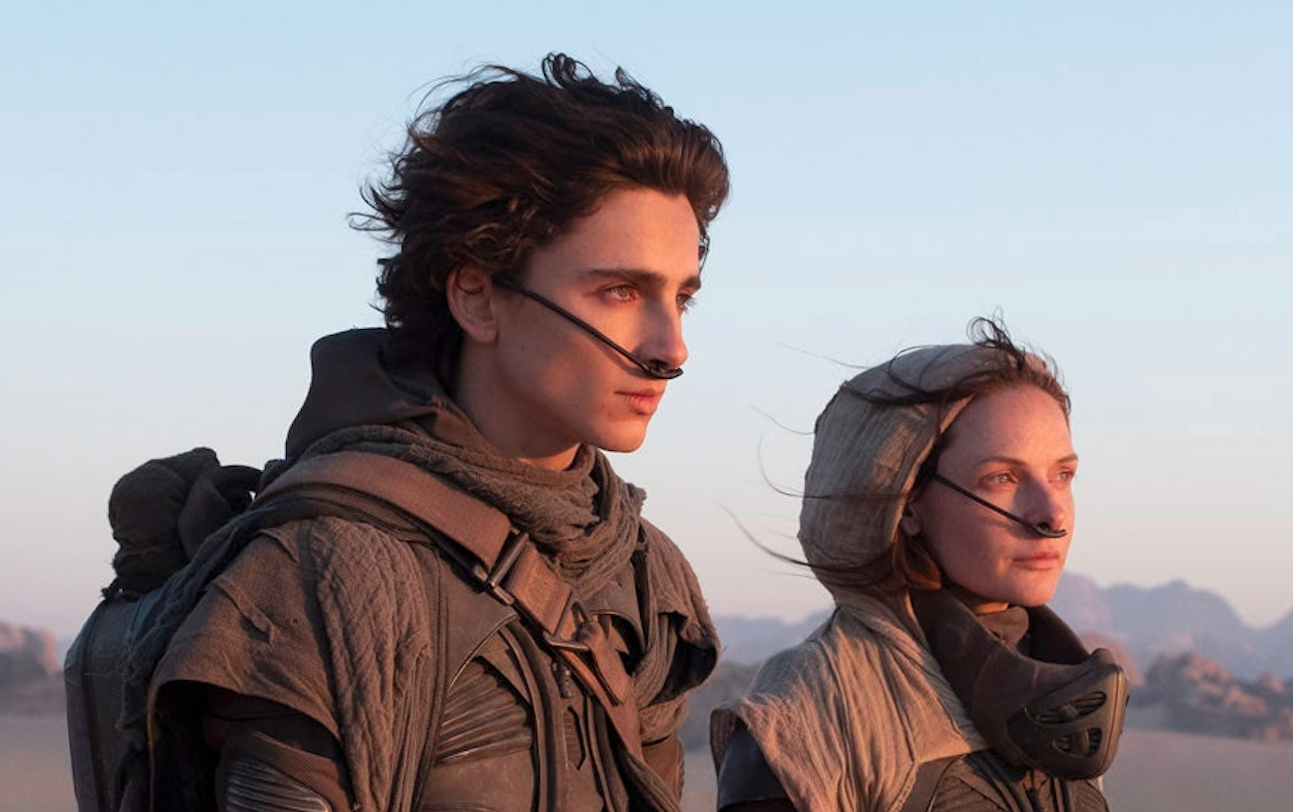 "Timothée Chalamet and Rebecca Ferguson in ""Dune"" (Warner Bros.)"