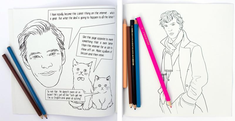 Love Benedict Cumberbatch? Now You Can Colour Him In