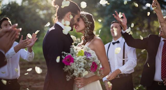 Almost half of couples getting married feel pressure to throw a wedding that looks good on Instagram [Image: Getty]