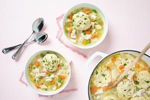 Easy Leftover Turkey Dumpling Soup recipe available in attached PDF