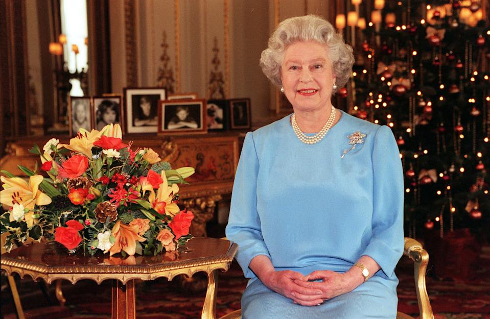 The Queen sitting for her Christmas Day speech