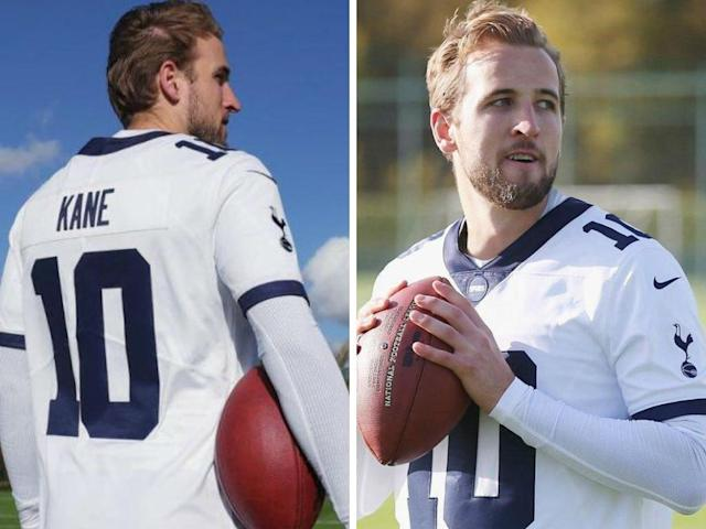 Tottenham's new Harry Kane NFL shirt hasn't gone down well with fans