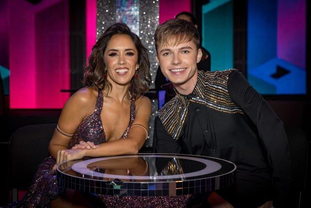 Janette Manrara with singer HRVY in 2020