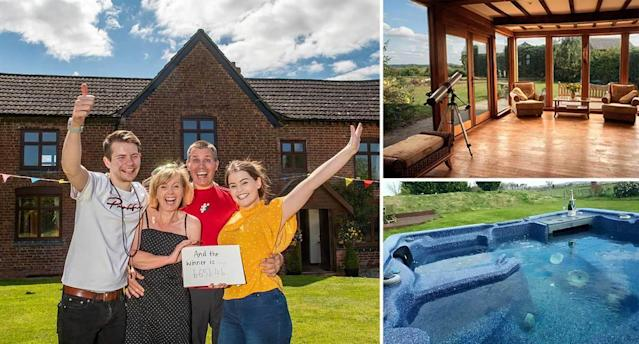 Key worker Alison Bellamy won a luxurious six-bedroom farmhouse worth £650,000 – after purchasing a £2 raffle ticket. (SWNS)