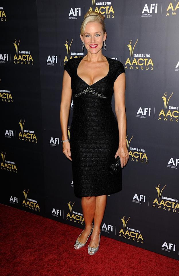 WEST HOLLYWOOD, CA - JANUARY 27:Actress Penelope Ann Miller  arrives at the Australian Academy Of Cinema And Television Arts' 1st Annual Awards at Soho House on January 27, 2012 in West Hollywood, California.  (Photo by Frazer Harrison/Getty Images)