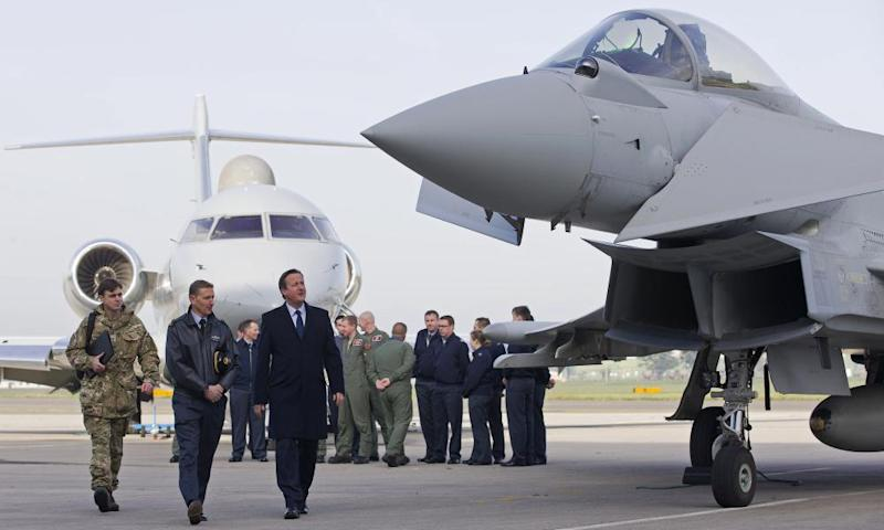 David Cameron at RAF Northolt