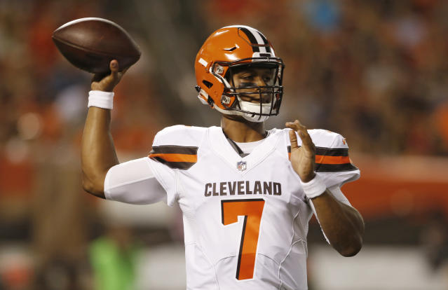 Rookie DeShone Kizer will start the Browns' third preseason game. (AP)