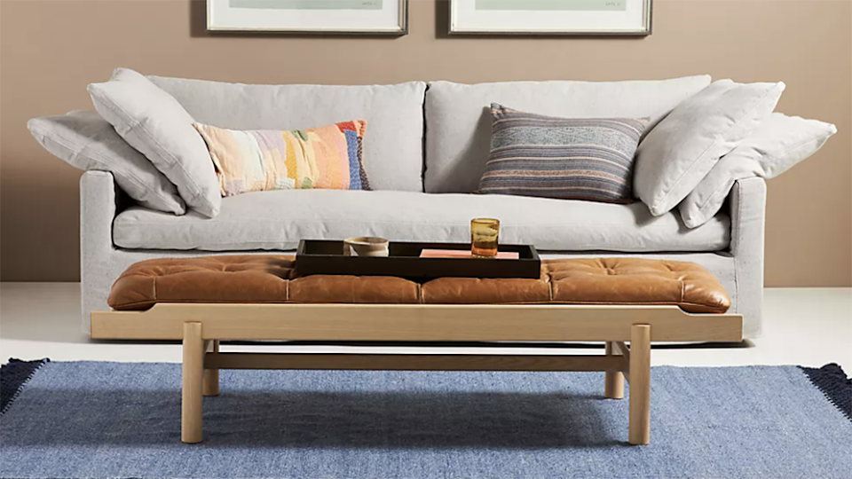 This couch is made with sustainable materials.