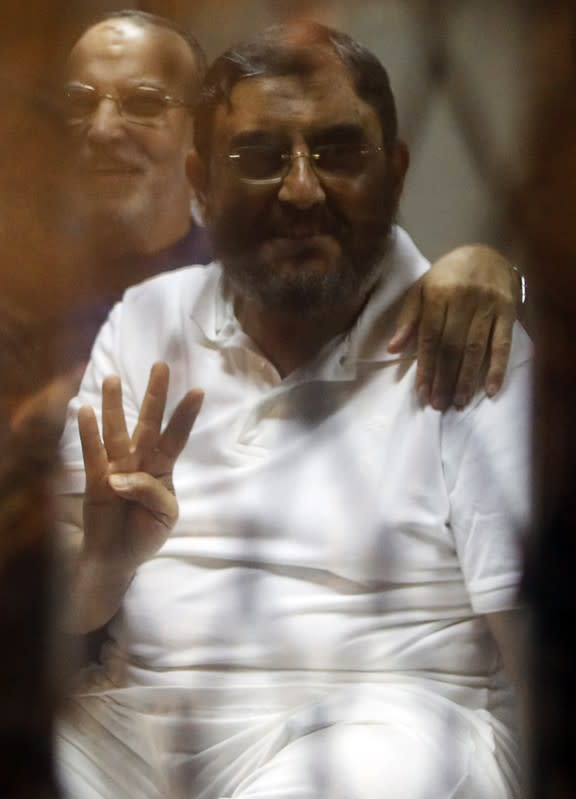 U.N. calls for release of ex-aide to Egypt's Mursi, son jailed since 2013