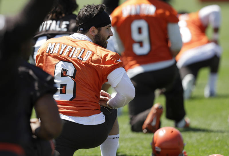 Baker Mayfield went No. 1 overall, the first time the Browns have used a top-20 pick on a quarterback since Tim Couch. (AP)