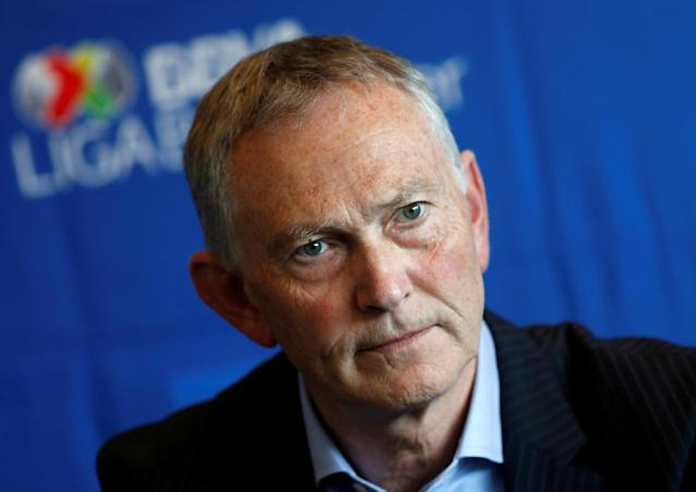 FILE PHOTO: Richard Scudamore, Chief Executive of the Premier League, May 11, 2016. REUTERS/Henry Romero/File Photo