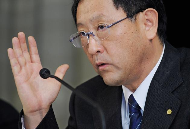 Toyota Chief Executive Akio Toyodaapologisedfor the incident and said he offered to meet the person (GETTY IMAGES)