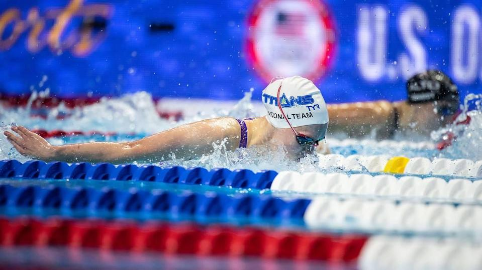 Claire Curzan, a 16-year-old swimmer from Cary, N.C., made the U.S. Olympic swim team Monday night by finishing second in the women's 100 butterfly.