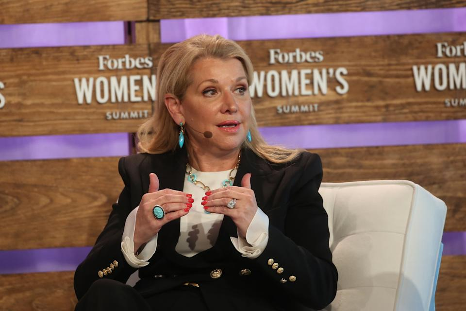 NEW YORK, USA - JUNE 19: Mindy Grossman, President & Chief Executive Officer, Weight Watchers speaks at Forbes Women's Summit 2018 in New York, United States on June 19, 2018. (Photo by Mohammed Elshamy/Anadolu Agency/Getty Images)