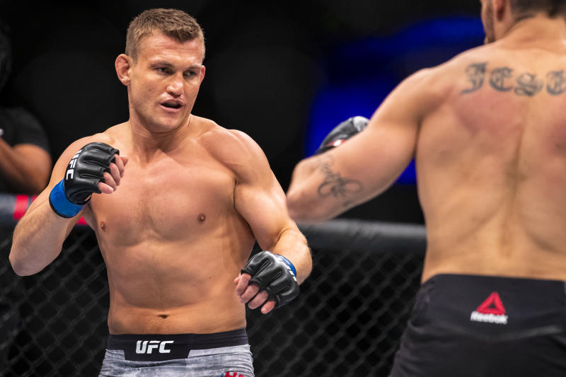 Ian Heinisch is out of UFC 250 due to a positive coronavirus test in his camp. (Photo by Brett Carlsen/Getty Images)
